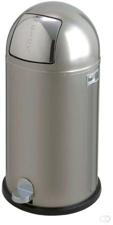 Afbeelding van Zilveren Wesco Afvalemmers Kickboy nieuw zilver, 40 ltr