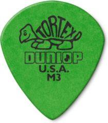 Dunlop Tortex Jazz III 0.88mm groen plectrum met scherpe punt
