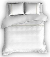 Romanette Duchesse - Flanel - Dekbedovertrek - Lits-jumeaux - 270x200/220 cm + 2 kussenslopen 60x70 cm - Wit/Sand