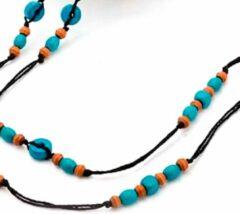 Charme Bijoux Brillenkoord Turquoise- bruin- Dames- Brilketting
