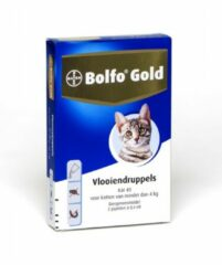 Bolfo Gold Kat 40 - Anti vlooien en tekenmiddel - 2 stuks 0 - 4 Kg