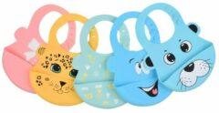 Chibaa Siliconen slabbetje - baby slabber - Giraf -handige slabber - waterdichte baby slabbetjes - zachte slabber met opvangbakje - Unisex slabbers