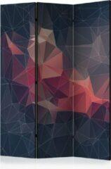 Donkerblauwe Kamerscherm - Scheidingswand - Vouwscherm - Abstract Bird [Room Dividers] 135x172 - Artgeist Vouwscherm