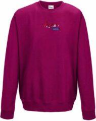 FitProWear Sweater Dames - Donker roze- Maat M - Dames - Trui zonder capuchon - Sweater - Hoodie - Trui - Sporttrui - Katoen / Polyester - Sportkleding - Casual kleding - Winterkleding