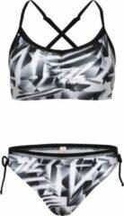 La V Bikini classic met kant detail - Zwart wit 128-134