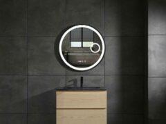 Mawialux LED spiegel   80cm   Rond   Verwarming   Digitale klok   ML-81LS-R