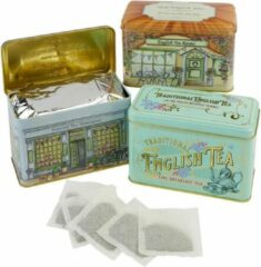 New English Teas Vintage English Tea Selection 3 Tins met totaal 3x40 Teabags English Afternoon - English Breakfast - 3x40 Teabags