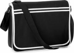 Witte Bagbase Retro Schoudertas Black/White 12 Liter