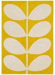Orla Kiely - Yellow Stem 59306 Vloerkleed - 160x230 cm - Rechthoekig - Laagpolig Tapijt - Retro, Scandinavisch - Geel, Wit