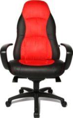 Topstar Bürostuhl / Chefsessel SPEED CHAIR AL.F2 Kunstleder schwarz / rot