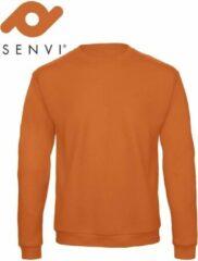Merkloos / Sans marque Senvi Fleece Crew Sweatshirt - Kleur: Oranje – Maat: XL