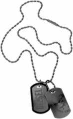 Zilveren Diesel Double Dogtags DX0014040 - Collier - Staal - Zwart - Mannen