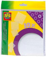SES Strijkpapier voor Strijkkralen - 10 Strijkvellen - 15x15 cm