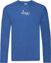 FitProWear T-Shirt Lange Mouwen Heren - Blauw - Maat XXL - Longsleeve - Shirt met lange mouwen - T-Shirt lange mouw - Trui - Sweater - Casual kleding - Sportkleding