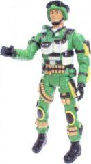 Donkergroene Toitoys Toi-toys Actiefiguur Army Soldaat Beweegbaar 43 Cm