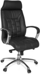 Amstyle AMSTYLE Bürostuhl TURIN Echtleder schwarz bis 120kg Schreibtischstuhl Wippfunktion Chefsessel Armlehnen Drehstuhl X-XL