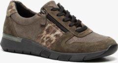 Scapino Hush Puppies suède sneakers bruin/groen