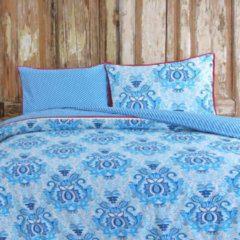 Happiness Dekbedovertrek Yogi - Katoen-percal - no.8054 - Blauw Maat: 140x220cm