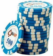 Blauwe ONK Poker Chips 500 (25 stuks)