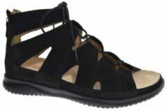 Hartjes 110332 - Volwassenen Platte sandalenDames Sandalen - Kleur: Zwart - Maat: 37