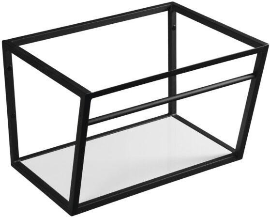 Afbeelding van Ophangbeugel Sapho SKA Industrial voor Wastafelblad MA060 60 cm met MDF plank Mat Zwart