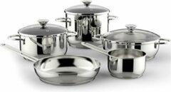 Zilveren Lagostina Deliziosa Premium Pot en Pannen set RVS, Set van 8