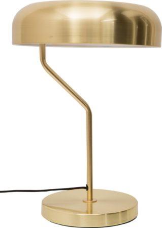 Afbeelding van Dutchbone Eclipse Tafellamp - Ø30xH42 Cm - Messing Metalen Lampenkap En Basis