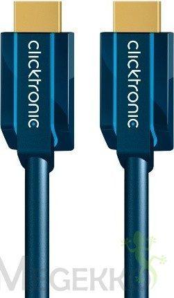 "Afbeelding van HDMI Aansluitkabel clicktronic Standard HDMIâ""¢ Kabel mit Ethernet [1x HDMI-stekker - 1x HDMI-stekker] 10 m Blauw"