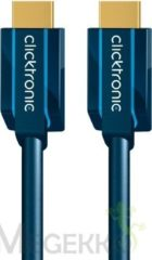 "HDMI Aansluitkabel clicktronic Standard HDMIâ""¢ Kabel mit Ethernet [1x HDMI-stekker - 1x HDMI-stekker] 10 m Blauw"