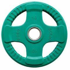 Body-Solid Gekleurde Olympische Rubber Halterschijf - Gewichten - Groen - 10 kg