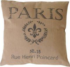 Heute-wohnen Deko-Kissen Paris, Sofakissen Zierkissen mit Füllung, braun 45x45cm