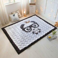 Speelkleed king panda Deluxe EXTRA DIK 195 x 145 cm - LiefBoefje - Groot Speelkleed Baby - Speelmat Kinderen - Babymat XL - Kindervloerkleed - Kraamcadeau - Speelkleed Kinderen - Grote collectie speelkleden