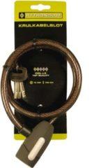 Zwarte Python spiraal kabelslot 150x10 - Fietsslot