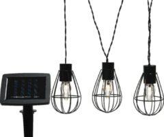 Zwarte Lumineo Micro LED solar strengverlichting lamp 350cm-8 lampjes - Tuinverlichting op zonneenergie