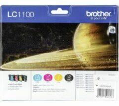 Brother LC1100 Origineel Inktcartridge Zwart & 3 Kleuren 4 Stuks