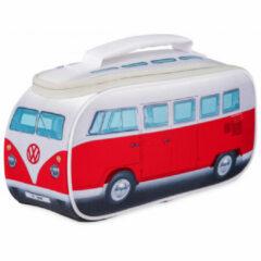 VW Collection - VW T1 Bus Brotzeittasche - Voedselbewaring maat 30 x 15 x 12 cm, grijs/rood