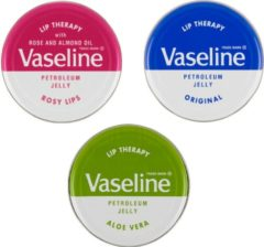 Roze Vaseline / Lip therapy / Set / 3 delig / Rosy lips / Creme brûlée / Cocao butter / Mini Limited Editions
