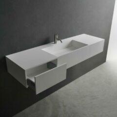 Antraciet-grijze Fontein Creavit 44,5x31x12,5 cm Inclusief 1 Kraangat Mat Antraciet