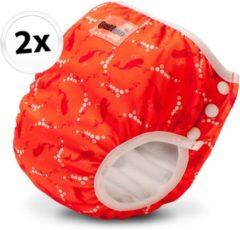 Bambinex wasbare zwemluier en oefenbroekje - 2 stuks - Bubble - maat L