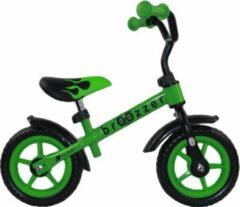 Broozzer Easy Rider Metaal 10 inch Groen - Loopfiets