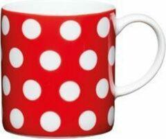Set van 6 - Espresso Kopje - Polka Dot - Rood - 80ml - KitchenCraft