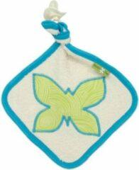 Turquoise Natur-elle | Speendoekje Pure Baby - Vlinder biologisch katoen