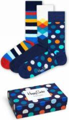 Happy Socks - Classic Multi-Color Socks Gift Set 3-Pack - Multifunctionele sokken maat 41-46, purper/blauw/grijs