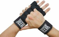 Zwarte Reeva Sporthandschoenen - Geschikt voor Fitness en CrossFit - Medium