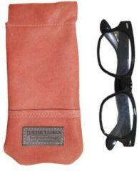 Toetie & Zo Handgemaakte Leren Brillenkoker Roze - Knijpsluiting - Brillenetui - Brillentas - Leder - Snappouch