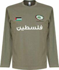 Kaki Retake Palestina Football Longsleeve T-Shirt - XL