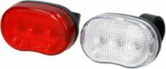 Rode Fietsverlichting set - Voor en achterlicht - LED verlichting - Dunlop