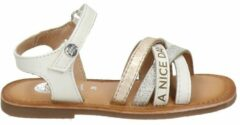 Gioseppo Otsego leren sandalen met glitters wit