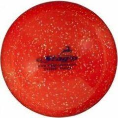 Hockeybal glitter rood - reject - 12 stuks