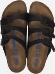 Groene Birkenstock Florida slippers zwart - Maat 42